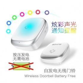 EARKONG Bell Pintu Wireless Doorbell LED 38 Tunes 1 Receiver -  B111 - White - 4