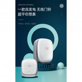 EARKONG Bell Pintu Wireless Doorbell LED 38 Tunes 1 Receiver -  B111 - White - 5