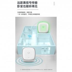EARKONG Bell Pintu Wireless Doorbell LED 38 Tunes 1 Receiver -  B111 - White - 9