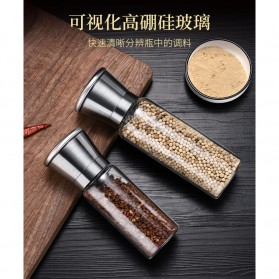 SSGP Penggiling Biji Lada Manual Spice Pepper Mill Grinder 450ml - SS304 - Silver