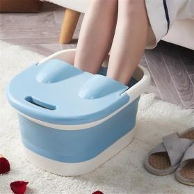 Mrosaa Ember Kaki Folding Foot Wash Hot Tub Sauna Massage Bucket - M30 - Blue - 2