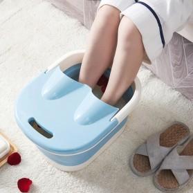 Mrosaa Ember Kaki Folding Foot Wash Hot Tub Sauna Massage Bucket - M30 - Blue - 3