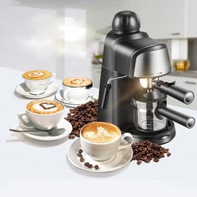 HOTGAGA Mesin Kopi Semi Automatic Espresso Italian Coffee Machine 5 Bar 240ml - CM6810 - Black