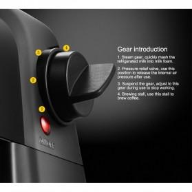 HOTGAGA Mesin Kopi Semi Automatic Espresso Italian Coffee Machine 5 Bar 240ml - CM6810 - Black - 12