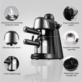 HOTGAGA Mesin Kopi Semi Automatic Espresso Italian Coffee Machine 5 Bar 240ml - CM6810 - Black - 2