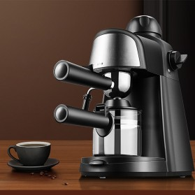 HOTGAGA Mesin Kopi Semi Automatic Espresso Italian Coffee Machine 5 Bar 240ml - CM6810 - Black - 7