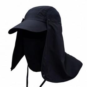 FLYMALL Topi Memancing Tentara Jepang Anti UV Matahari - MH012 - Black