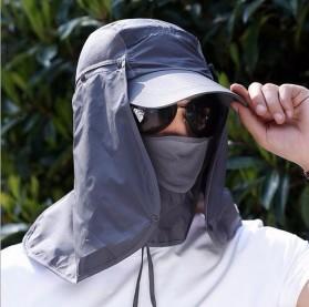FLYMALL Topi Memancing Tentara Jepang Anti UV Matahari - MH012 - Black - 5