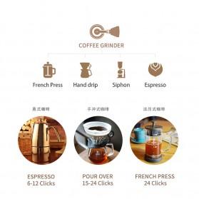 TIMEMORE Alat Penggiling Kopi Premium Manual Coffee Bean Grinder - C2 - Black - 7