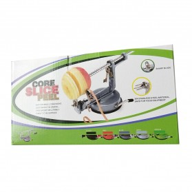 GardenLove Pengupas Spiral Kulit Buah 3 in 1 Core Slice Cutter Peel Apple Potato - GL31 - Red - 8