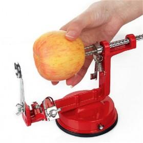 GardenLove Pengupas Spiral Kulit Buah 3 in 1 Core Slice Cutter Peel Apple Potato - GL31 - Red - 2