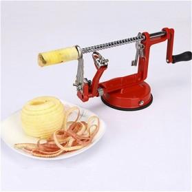 GardenLove Pengupas Spiral Kulit Buah 3 in 1 Core Slice Cutter Peel Apple Potato - GL31 - Red - 5