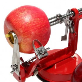GardenLove Pengupas Spiral Kulit Buah 3 in 1 Core Slice Cutter Peel Apple Potato - GL31 - Red - 6
