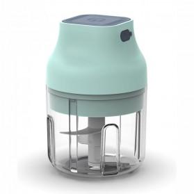 LEEWONG Blender Portable Food Chopper Mini Elektrik Garlic Masher 260ML - SN001 - Blue