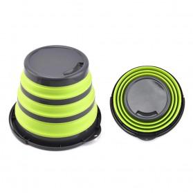 AsyPets Baskom Ember Lipat Water Bucket Foldable Collapsible 10 Liter - ST368 - Blue - 2