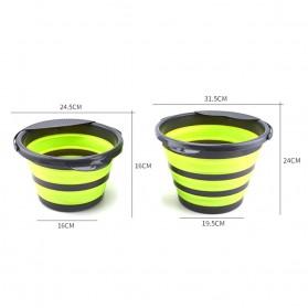 AsyPets Baskom Ember Lipat Water Bucket Foldable Collapsible 10 Liter - ST368 - Blue - 7