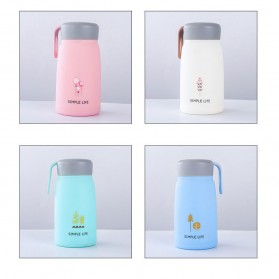 Simple Life Botol Minum Double Layer with Lanyard - SM-8229 - Mix Color - 2