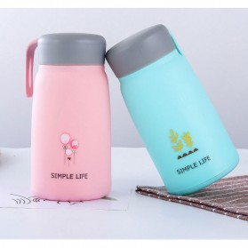 Simple Life Botol Minum Double Layer with Lanyard - SM-8229 - Mix Color - 3
