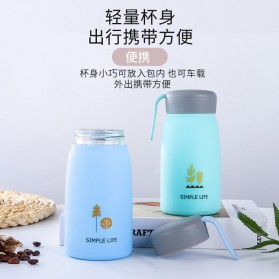 Simple Life Botol Minum Double Layer with Lanyard - SM-8229 - Mix Color - 4