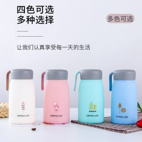 Simple Life Botol Minum Double Layer with Lanyard - SM-8229 - Mix Color - 5