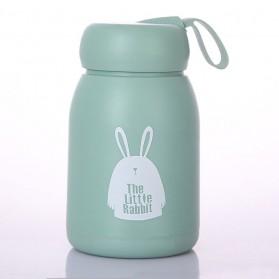 The Little Rabbit Botol Minum Creative Design with Lanyard 320ml - SM-8230 - Green