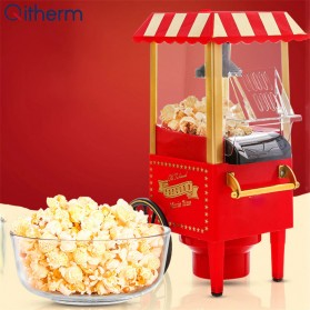 Qitherm Mesin Carnival Electric Popcorn Maker Hot Air Corn Machine 1200W - MP-2800 - Red
