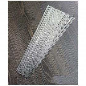 HALOJAJU Alat Tusuk Sate BBQ Needle Reusable Stainless Steel Round 33cm 100 PCS - Miao-480