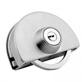 GL Kunci Pintu Kaca Sliding Glass Door Lock Double Bolt Single Door 10-12mm - MJ-123B - Silver