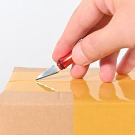Tegoni Pisau Cutter Mini Folding Pocket Blade Knife - EO275 - Black - 7