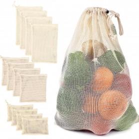 BAGGU Tas Kantong Belanja Ramah Lingkungan Model Jaring Mesh Size L - Light Gray