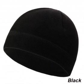 TRUE Topi Kupluk Beanie Hat Pria Wanita - EC003 - Black