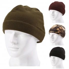 TRUE Topi Kupluk Beanie Hat Pria Wanita - EC003 - Black - 2