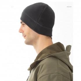 TRUE Topi Kupluk Beanie Hat Pria Wanita - EC003 - Black - 10