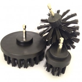 MSHIER Kepala Sikat Bor Elektrik Power Cleaning Brush Head 3 PCS - DB003B - Black
