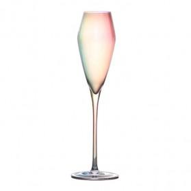 LOULONG Gelas Cangkir Glass Crystal Champagne Wine Rainbow Goblet 260ml - XR1024 - Multi-Color