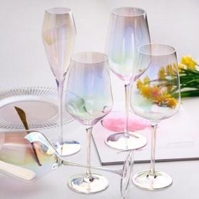 LOULONG Gelas Cangkir Glass Crystal Champagne Wine Rainbow Goblet 260ml - XR1024 - Multi-Color - 3