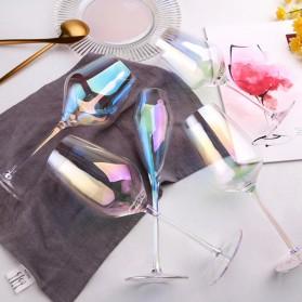 LOULONG Gelas Cangkir Glass Crystal Champagne Wine Rainbow Goblet 260ml - XR1024 - Multi-Color - 4
