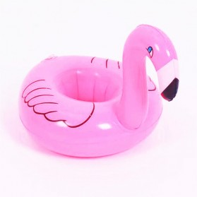 Doffy Pelampung Gelas Minum Kolam Renang Inflatable Cup Holder Model Flamingo - XY19 - Multi-Color