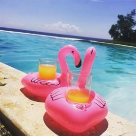 Doffy Pelampung Gelas Minum Kolam Renang Inflatable Cup Holder Model Flamingo - XY19 - Multi-Color - 4