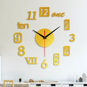 EMOYO Jam Dinding DIY Wall Clock Model Roman 30 CM - DIY-201 - Golden