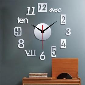 EMOYO Jam Dinding DIY Wall Clock Model Roman 30 CM - DIY-201 - Golden - 2