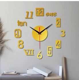 EMOYO Jam Dinding DIY Wall Clock Model Roman 30 CM - DIY-201 - Golden - 4
