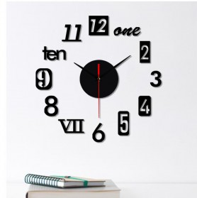 EMOYO Jam Dinding DIY Wall Clock Model Roman 30 CM - DIY-201 - Golden - 5