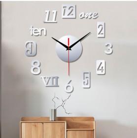 EMOYO Jam Dinding DIY Wall Clock Model Roman 30 CM - DIY-201 - Golden - 6