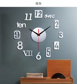 EMOYO Jam Dinding DIY Wall Clock Model Roman 30 CM - DIY-201 - Golden - 7