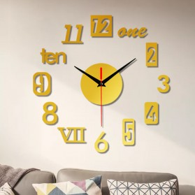 EMOYO Jam Dinding DIY Wall Clock Model Roman 30 CM - DIY-201 - Golden - 8