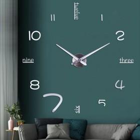 EMOYO Jam Dinding Besar DIY Giant Wall Clock Model English 60 CM - DIY-201 - Silver