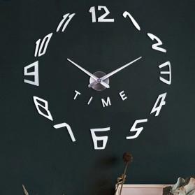 EMOYO Jam Dinding Besar DIY Giant Wall Clock Model Spherical 60 CM - DIY-201 - Silver