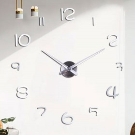 EMOYO Jam Dinding Besar DIY Giant Wall Clock Model Simple 60 CM - DIY-201 - Silver