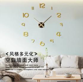 EMOYO Jam Dinding Besar DIY Giant Wall Clock Model Simple 60 CM - DIY-201 - Silver - 3